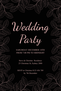wedding party poster