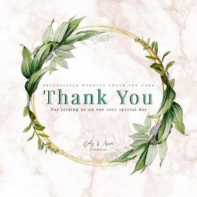 wedding party thank you card TEMPLATE โลโก้