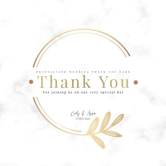 wedding party thank you card TEMPLATE Logo