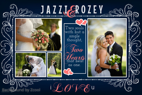 1150 customizable design templates for wedding postermywall wedding photo collage template maxwellsz