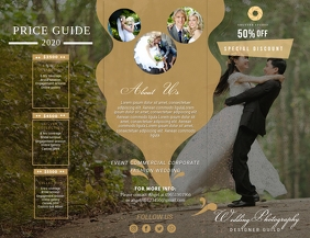 Wedding Photographer Price List Pamphlet Flyer (US Letter) template