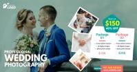 Wedding Photography Ad auf Facebook geteiltes Bild template