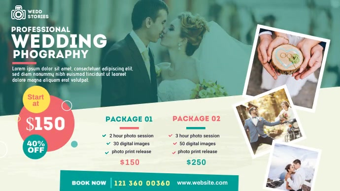 Wedding Photography Ad Pos Twitter template