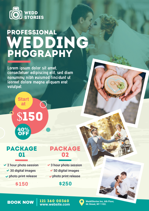 Wedding Photography Flyer A4 template
