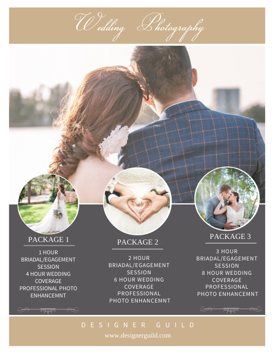 Wedding Photography Flyer Template Postermywall