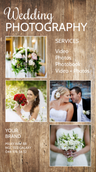 Wedding Photography Photographer Services Ad История на Instagram template