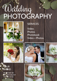 Wedding Photography Photographer Services Ad A4 template