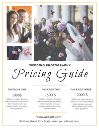 wedding photography pricing list guide templa Flyer (US-Letter) template