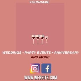 WEDDING PLANNER AD SOCIAL MEDIA TEMPLATE