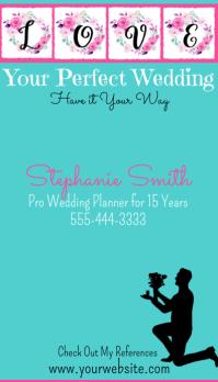 Wedding Planner Business Card Tarjeta de Presentación template