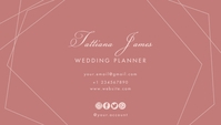 Wedding Planner Business Card Template Design