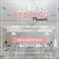 Wedding Planner Publicação no Instagram template