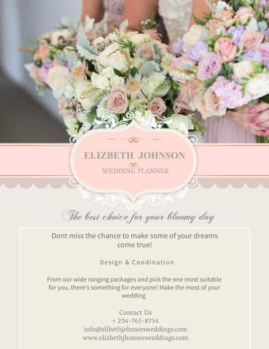 Wedding Planner Flyer Template Pamflet (Letter AS)