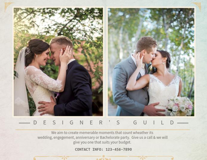 Wedding Planner Horizontal Design template Pamflet (Letter AS)