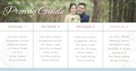 Wedding Planner Pricelist banner Image partagée Facebook template