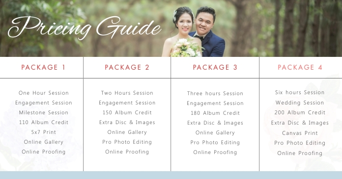 Wedding Planner Pricelist banner Facebook 共享图片 template