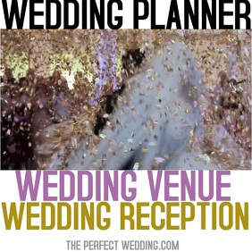 Wedding Planner Reception Venue Cuadrado (1:1) template