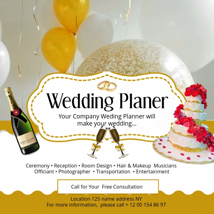 Wedding Planner Square Video template