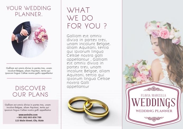 wedding planner trifold brochure advertisemen A4 template