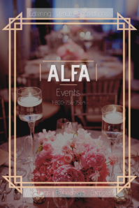 wedding planner/venues/catering/rentals Poster template