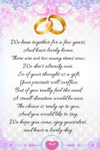 Customizable Design Templates For Wedding Poem Template