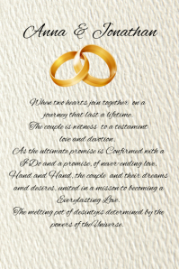 Wedding Poem Template