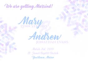 Wedding Postcard Invitatation