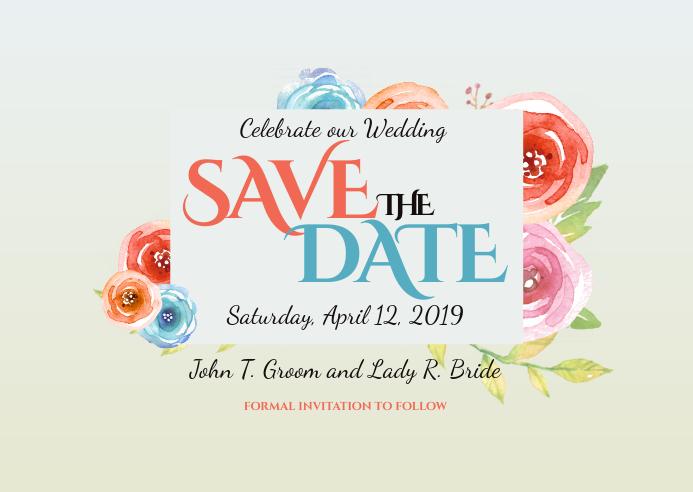Wedding Postcard Invite Save the Date