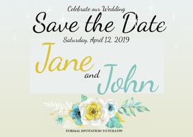 Wedding Postcard Invite Save the Date