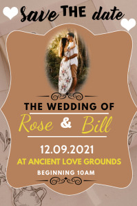 wedding poster Affiche template