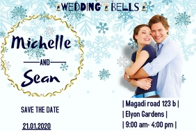 wedding poster Label template