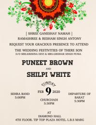 Wedding poster flyer template
