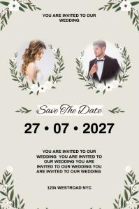 WEDDING POSTER INVITE INVITATION TEMPLATE