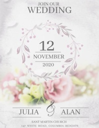 Wedding posters,Anniversary ,Save the date Flyer (US Letter) template