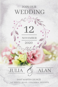 Wedding posters,Anniversary ,Save the date Плакат template