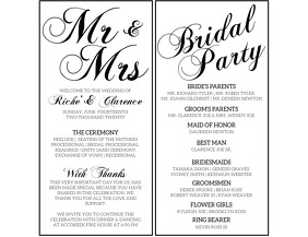 Wedding Program Flyer (US Letter) template