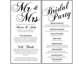 3 670 Wedding Program Customizable Design Templates Postermywall