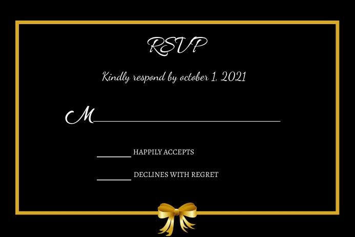 Wedding Rsvp card Label template
