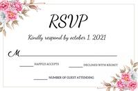 Wedding Rsvp card ป้าย template