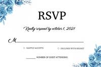 Wedding Rsvp card Etykieta template