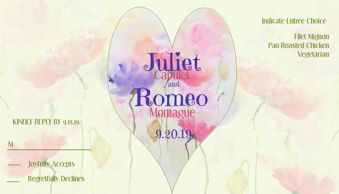 Wedding RSVP Watercolor Flowers