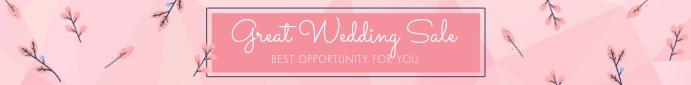 Wedding Sale - Leaderboard Ad Papan Peringkat template
