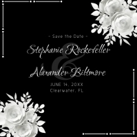 Wedding Save the Date Black and White Logo template