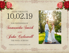 wedding save The Date Card Template