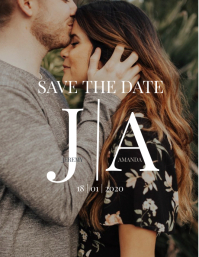 Wedding Save The Date Photo Template