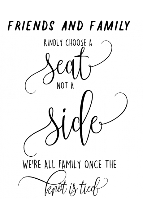wedding seat arrangement template