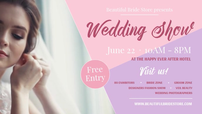 Wedding Show Facebook Cover Video template