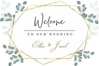 Wedding Sign Template 海报