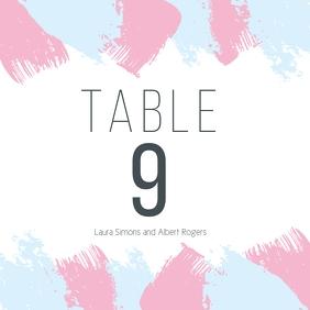 wedding table card Quadrado (1:1) template