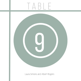 wedding table card Square (1:1) template
